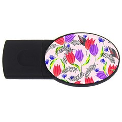 Floral Paradise Usb Flash Drive Oval (2 Gb)