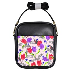 Floral Paradise Girls Sling Bags