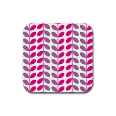 Pink Waves Rubber Coaster (square)