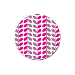 Pink Waves Magnet 3  (round)