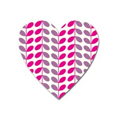 Pink Waves Heart Magnet