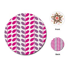 Pink Waves Playing Cards (round)