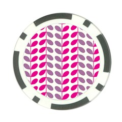 Pink Waves Poker Chip Card Guard