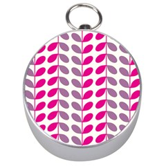 Pink Waves Silver Compasses