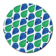 Leaves Round Mousepads