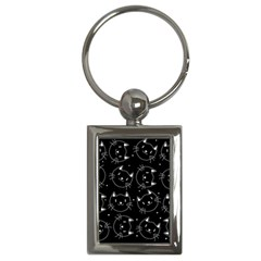 Halloween Black Cats Key Chains (rectangle)
