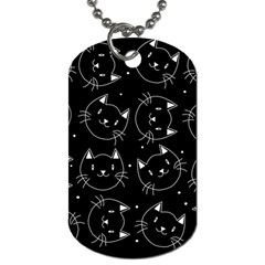 Halloween Black Cats Dog Tag (two Sides)