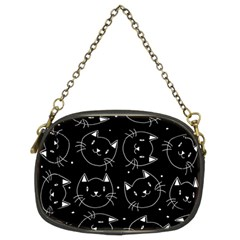 Halloween Black Cats Chain Purses (two Sides)