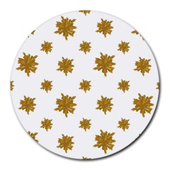 Graphic Nature Motif Pattern Round Mousepads