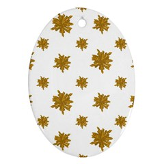 Graphic Nature Motif Pattern Ornament (oval)