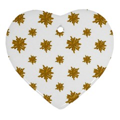 Graphic Nature Motif Pattern Ornament (heart)