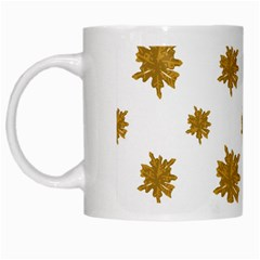 Graphic Nature Motif Pattern White Mugs