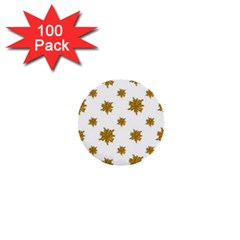 Graphic Nature Motif Pattern 1  Mini Buttons (100 Pack)