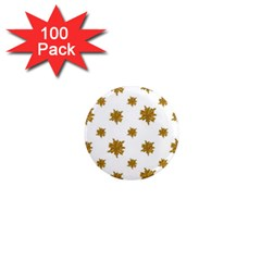 Graphic Nature Motif Pattern 1  Mini Magnets (100 Pack)