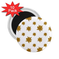 Graphic Nature Motif Pattern 2 25  Magnets (10 Pack)