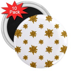 Graphic Nature Motif Pattern 3  Magnets (10 Pack)