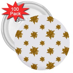 Graphic Nature Motif Pattern 3  Buttons (100 Pack)