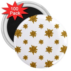 Graphic Nature Motif Pattern 3  Magnets (100 Pack)