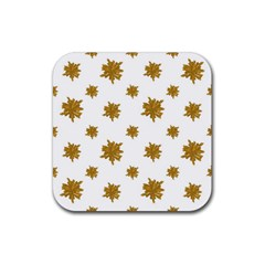 Graphic Nature Motif Pattern Rubber Square Coaster (4 Pack)