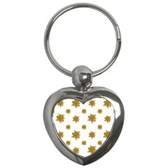 Graphic Nature Motif Pattern Key Chains (heart)