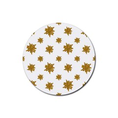 Graphic Nature Motif Pattern Rubber Round Coaster (4 Pack)