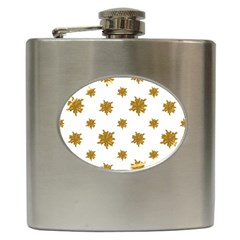 Graphic Nature Motif Pattern Hip Flask (6 Oz)