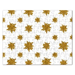 Graphic Nature Motif Pattern Rectangular Jigsaw Puzzl