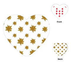 Graphic Nature Motif Pattern Playing Cards (heart)