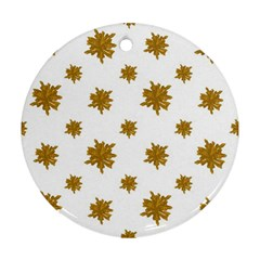 Graphic Nature Motif Pattern Round Ornament (two Sides)
