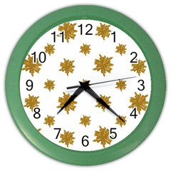 Graphic Nature Motif Pattern Color Wall Clocks