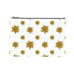 Graphic Nature Motif Pattern Cosmetic Bag (large)