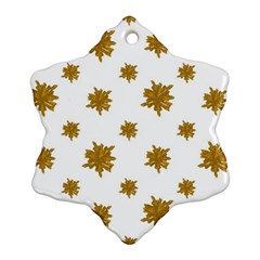 Graphic Nature Motif Pattern Snowflake Ornament (two Sides)