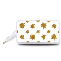 Graphic Nature Motif Pattern Portable Speaker (white)