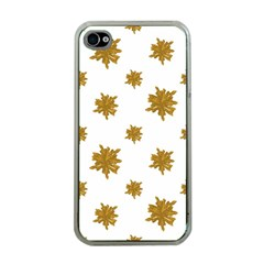 Graphic Nature Motif Pattern Apple Iphone 4 Case (clear)