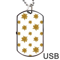 Graphic Nature Motif Pattern Dog Tag Usb Flash (two Sides)