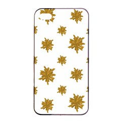 Graphic Nature Motif Pattern Apple Iphone 4/4s Seamless Case (black)
