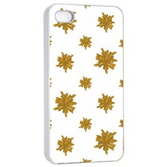 Graphic Nature Motif Pattern Apple Iphone 4/4s Seamless Case (white)