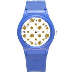 Graphic Nature Motif Pattern Round Plastic Sport Watch (s)