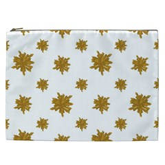 Graphic Nature Motif Pattern Cosmetic Bag (xxl)