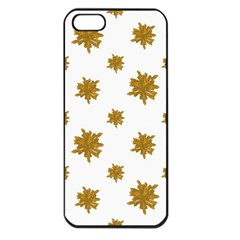 Graphic Nature Motif Pattern Apple Iphone 5 Seamless Case (black)