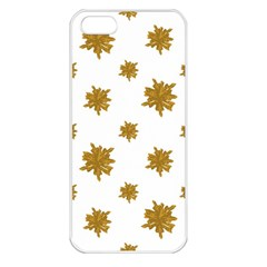 Graphic Nature Motif Pattern Apple Iphone 5 Seamless Case (white)