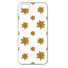 Graphic Nature Motif Pattern Apple Seamless Iphone 5 Case (clear)