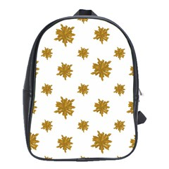 Graphic Nature Motif Pattern School Bag (xl)