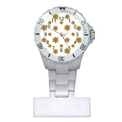 Graphic Nature Motif Pattern Plastic Nurses Watch