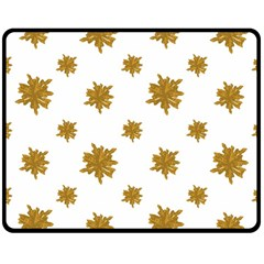 Graphic Nature Motif Pattern Double Sided Fleece Blanket (medium)
