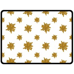 Graphic Nature Motif Pattern Double Sided Fleece Blanket (large)