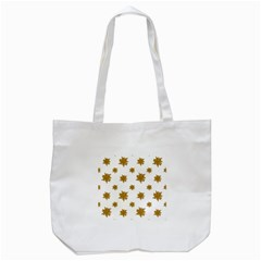 Graphic Nature Motif Pattern Tote Bag (white)