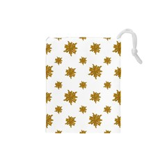 Graphic Nature Motif Pattern Drawstring Pouches (small)