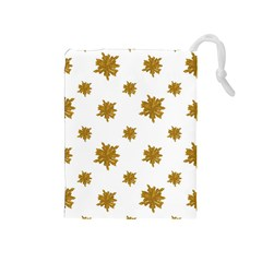 Graphic Nature Motif Pattern Drawstring Pouches (medium)