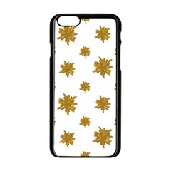 Graphic Nature Motif Pattern Apple Iphone 6/6s Black Enamel Case